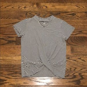 Girls short sleeve tee from art class with stripes